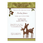Willow Deer Baby Shower Invitation forest woodland