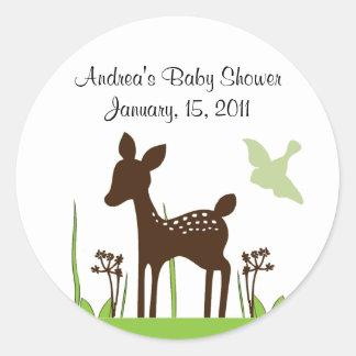 Willow Deer Baby Shower Sticker Keepsake