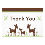 Willow Deer Baby Shower Thank You Card Custom Invitation