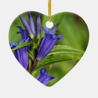 Willow gentian (Gentiana asclepiadea) Ceramic Heart Decoration
