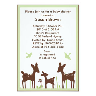 Willow Organic/Deer Baby Shower Invitation