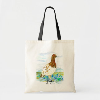 Willow Ptarmigan State Bird of Alaska Tote Bag