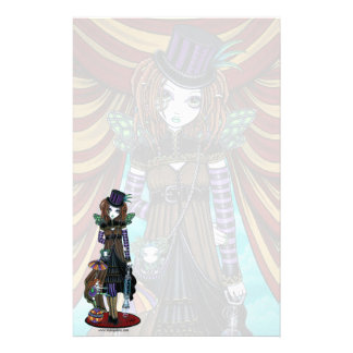 """Willow"" Steampunk Circus Fairy Stationery"