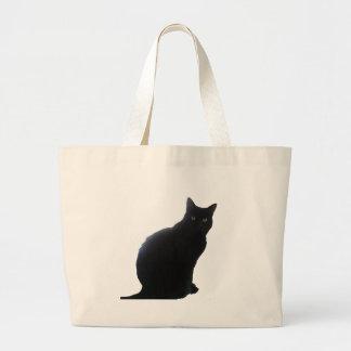 Willow the Black Cat Jumbo Tote Bag