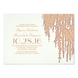 Willow tree elegant outdoor engagement party card
