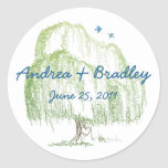 Willow Tree Wedding Seal or Favour Tag Stickers