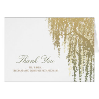 Willow Tree Wedding Thank You Note Card
