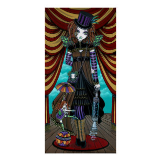 """""""Willow"""" Victorian Steampunk Circus Faery poster"""