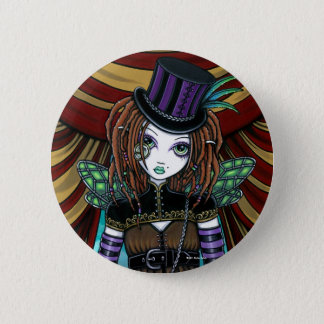 """Willow"" Victorian Steampunk Circus Fairy Button"
