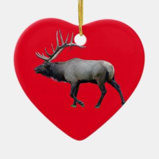 Willow Wapiti elk Ceramic Heart Decoration