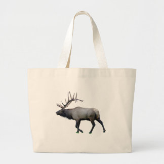 Willow Wapiti elk Large Tote Bag
