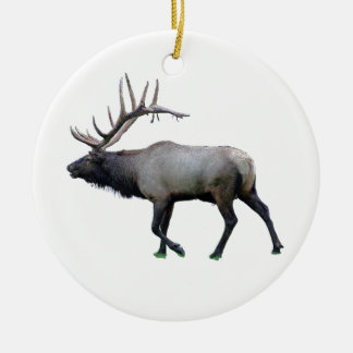 Willow Wapiti elk Round Ceramic Decoration