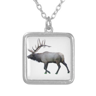 Willow Wapiti elk Silver Plated Necklace