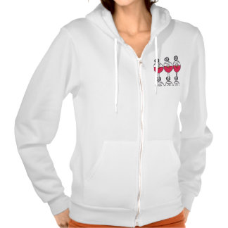 Willow Wine Glass Fleece Hooded Pullovers