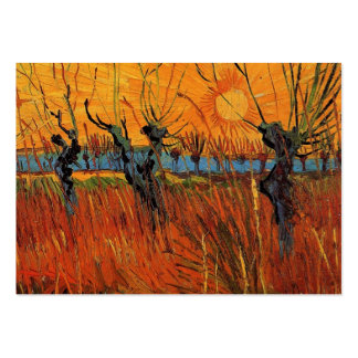Willows at Sunset by Van Gogh Business Card Templates