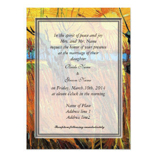 Willows at Sunset by Vincent van Gogh. 14 Cm X 19 Cm Invitation Card