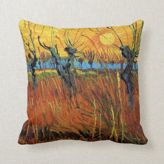 Willows at Sunset by Vincent van Gogh. Cushion