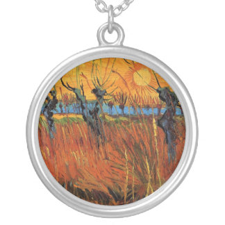 Willows at Sunset by Vincent van Gogh Custom Necklace