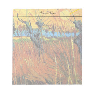 Willows at Sunset Vincent van Gogh Scratch Pads