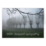 Willows in the fog greeting card