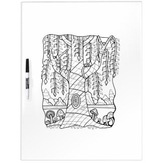 Willowy Tree Adult Coloring Dry Erase Board