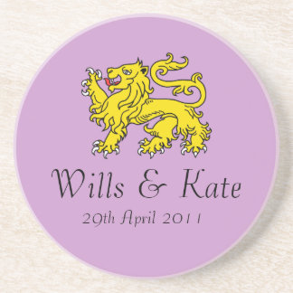 Wills and Kate Lion of London Wedding Coaster
