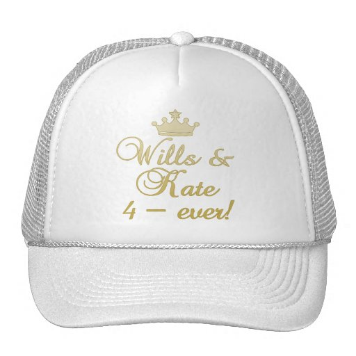 Wills & Kate 4-Ever T-shirts, Mugs, Gifts Mesh Hats