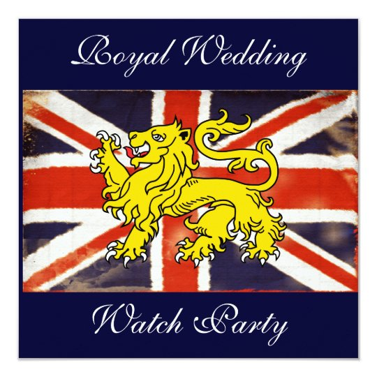 Wills & Kate Royal Wedding Watch Party Invitation