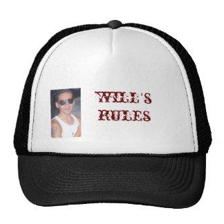 will's rules trucker hat