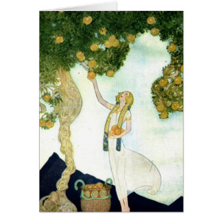 Willy Pogany illustration greeting card