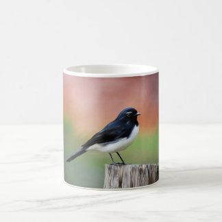 Willy Wagtail - Australian Bird Art Basic White Mug