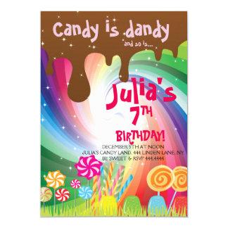 Willy Wonka Candyland Birthday Party Invitations
