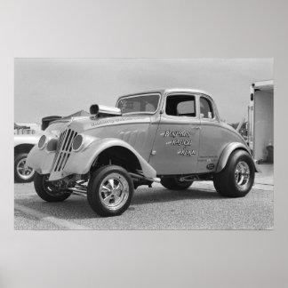 Willys Gasser 1 - Vintage Drag Poster
