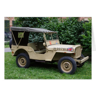Willys MB Jeep Greeting Card