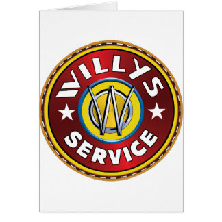 Willys Overland Jeep Greeting Card
