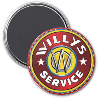 Willys overland jeep service magnet