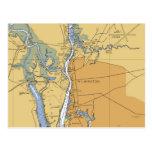 Wilmington, NC Nautical Chart Postcard
