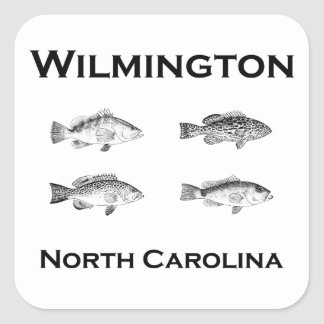 Wilmington North Carolina Fish (grouper) Square Sticker
