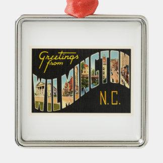 Wilmington North Carolina NC Old Vintage Postcard- Metal Ornament