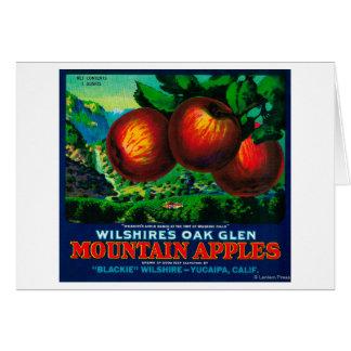 Wilshire's Oak Glen Apple Crate Label Card
