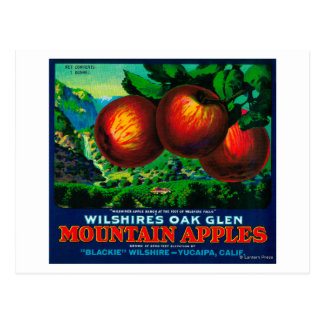 Wilshire's Oak Glen Apple Crate Label Postcard