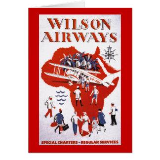 Wilson Airways ~ Africa Greeting Card