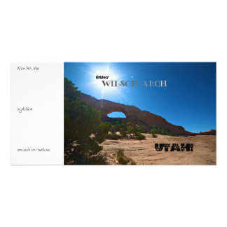 Wilson Arch Utah Personalized Photo Card