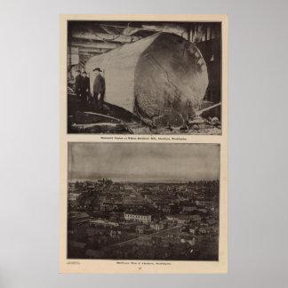 Wilson Bros Mill Bird s eye view of Aberdeen Posters