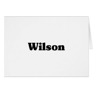 Wilson  Classic t shirts Greeting Card