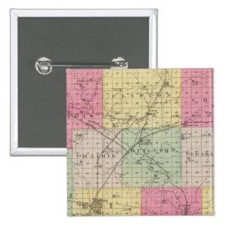 Wilson County, Kansas 15 Cm Square Badge