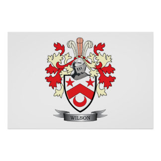 Wilson Family Crest Coat of Arms Poster