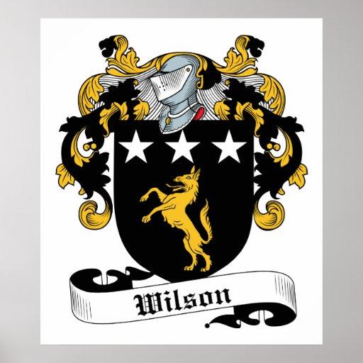 Wilson Family Crest Poster
