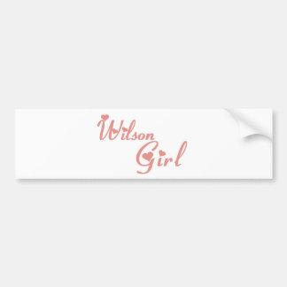 Wilson Girl tee shirts Bumper Sticker