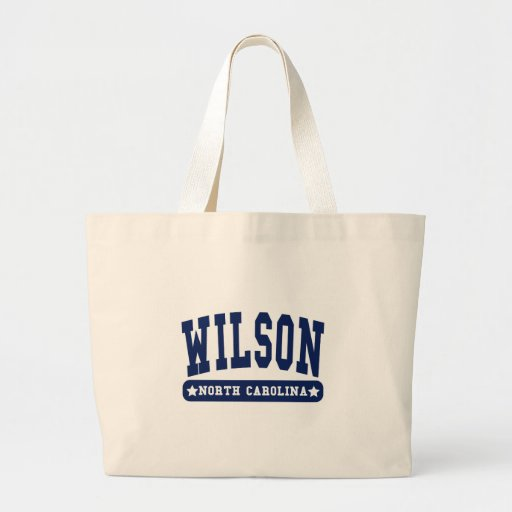 Wilson North Carolina College Style tee shirts Tote Bags